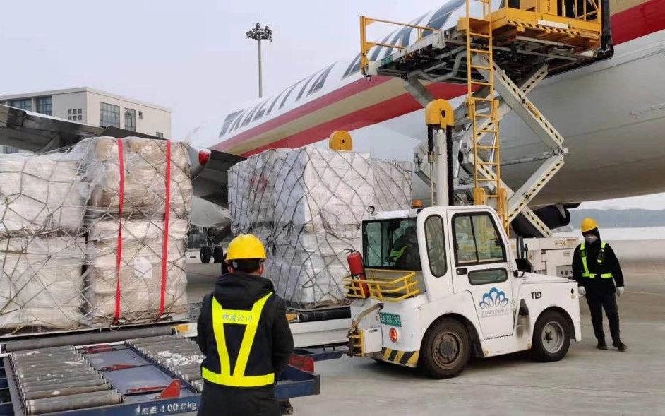 海外防疫物资包机运抵武汉 思源工程今起发放图片