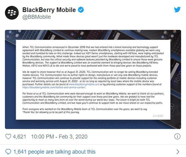 合约到期!BlackBerry 手机或将退出历史舞台