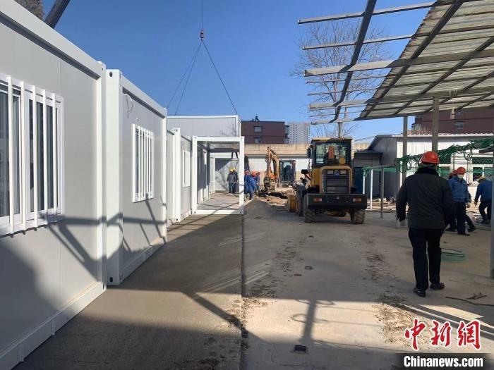 山西焦煤西山煤电集团建设医护人员隔离生活区。 山西焦煤集团供图
