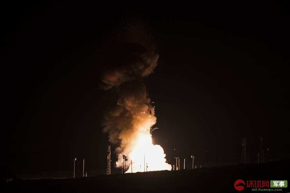 美军今年首次试射民兵3洲际导弹 射程1.2万公里(图)