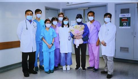 澳门首位确诊新型冠状病毒感染患者康复出院图片