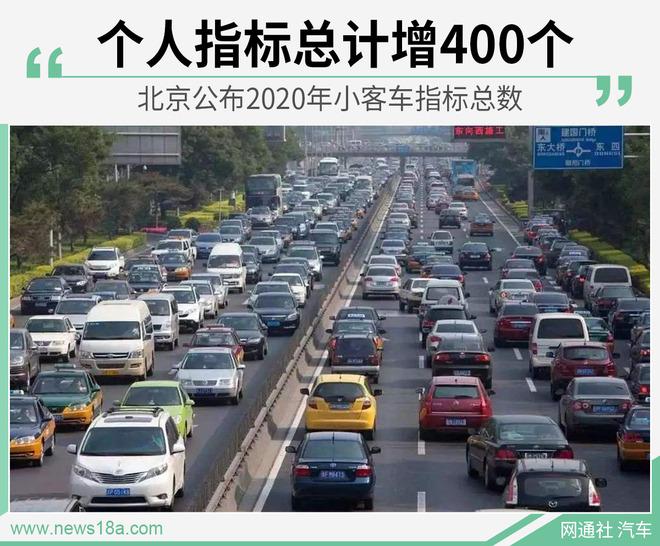 北京公布2020年小客车指标总数 个人指标微增