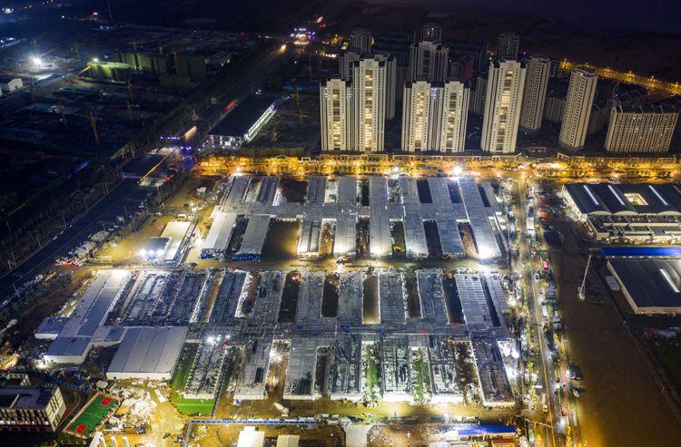 奋战十昼夜 雷神山医院通过验收|高清航拍图片