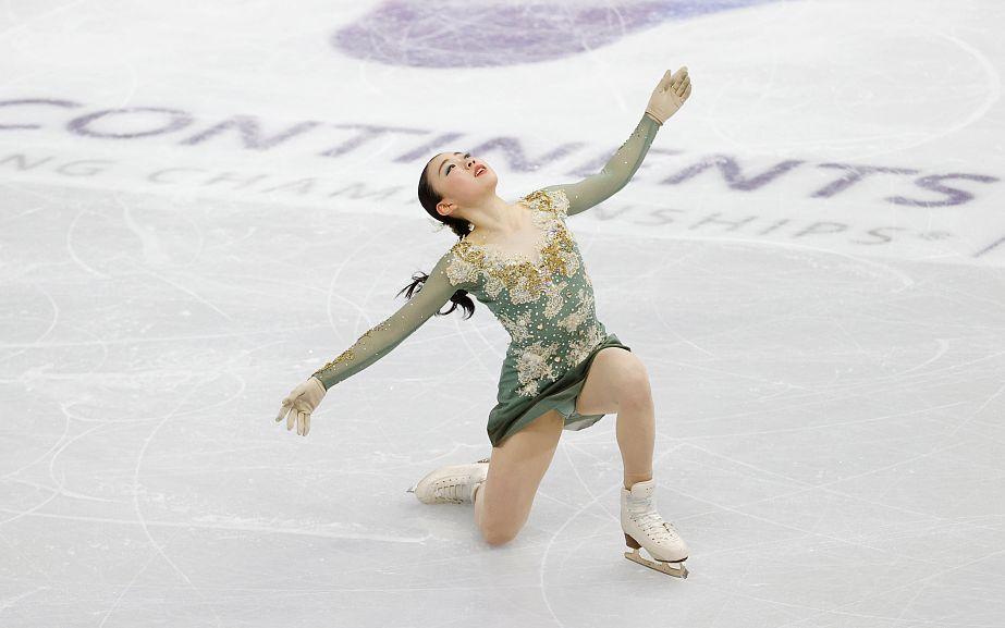 花滑四大洲赛纪平梨花夺冠,朱易首次参加成年组收获大图片