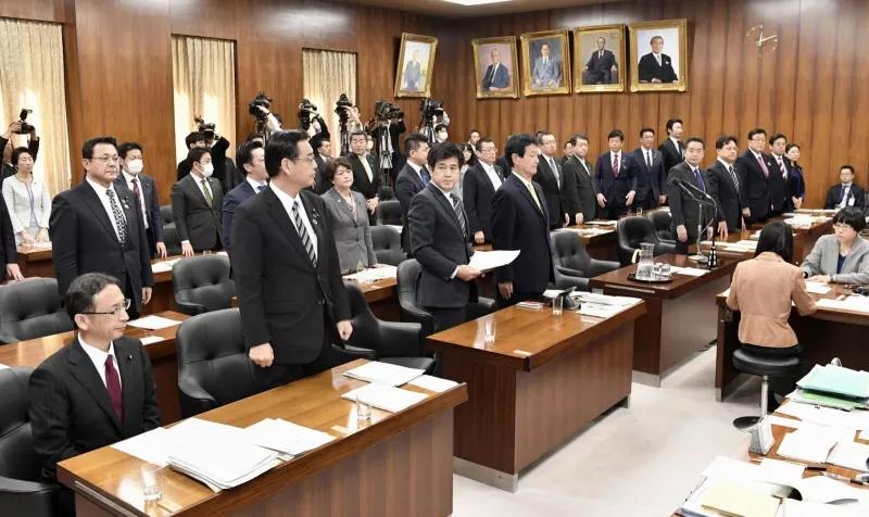 11日的内阁委员会会议(共同社)