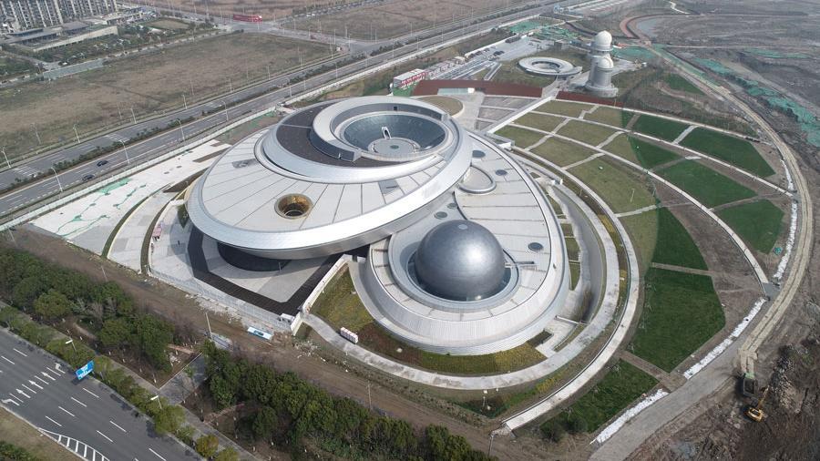 上海天文馆工地正式复工 建成后将成为全球建筑面积最大天文馆图片