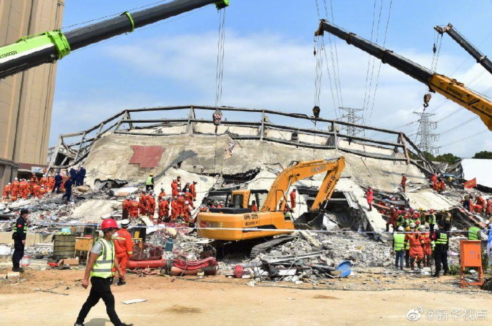 「蓝冠」泉州酒店倒塌事故已致蓝冠28人死亡初步调图片