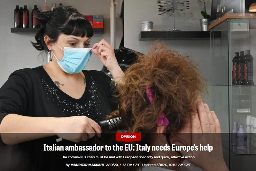 意大利大使批欧盟成员国无一响应求援:只有中国回应了图片