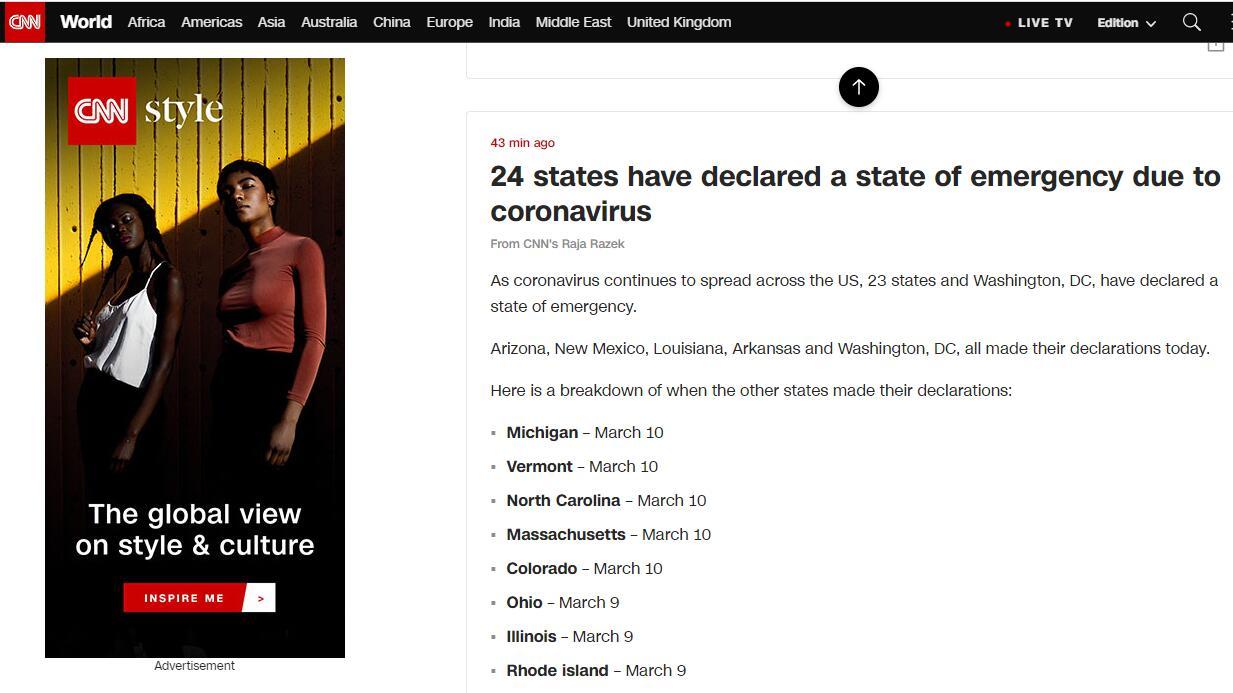 美国新冠肺炎确诊病例已达62086例