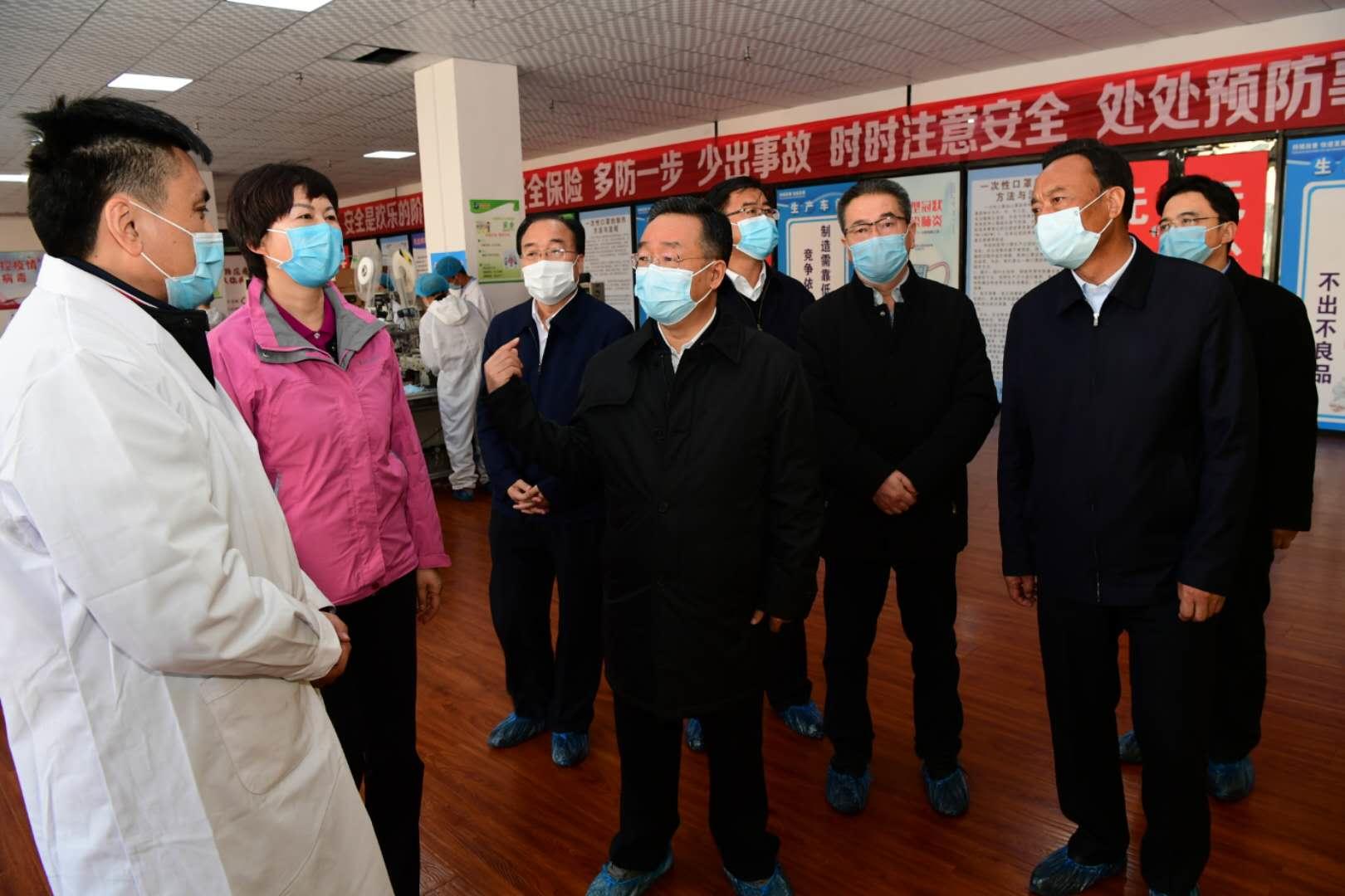 唐仁健在广河调研企业复工复产和疫情防控等工作图片