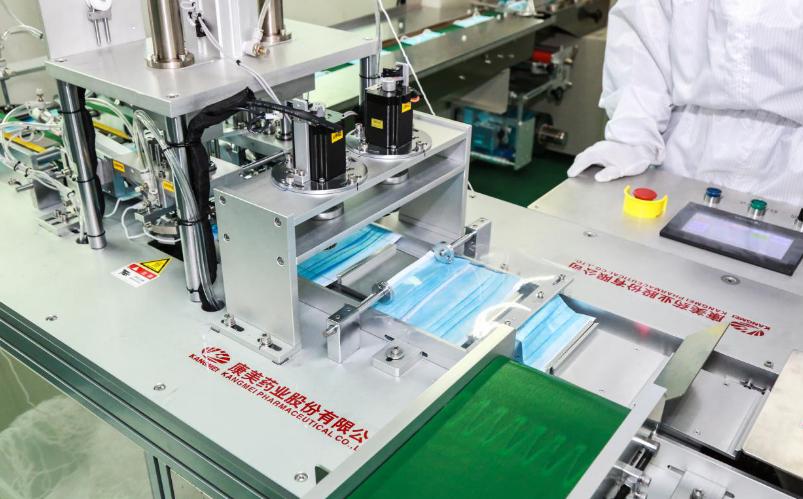 ST康美口罩生产线正式投产