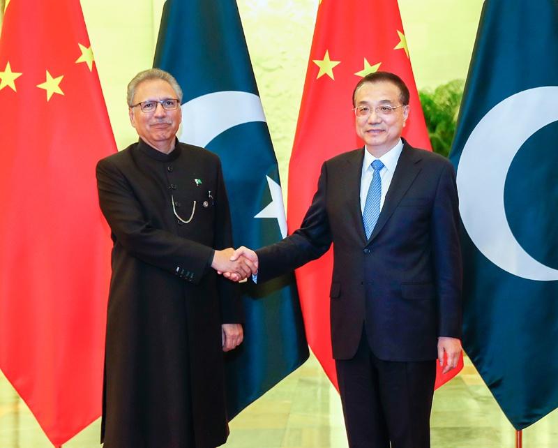 李克强会见巴基斯坦总统阿尔维图片