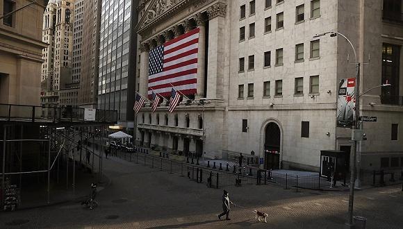 当地时间2020年3月18日,美国纽约,纽交所外景。图片来源:视觉中国