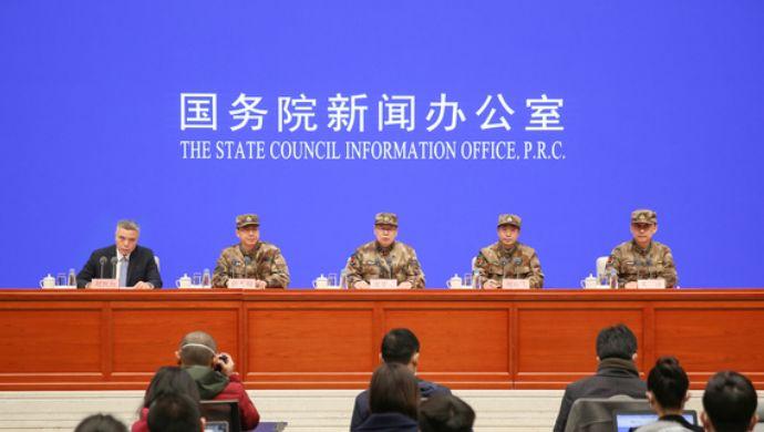 这场特殊的发布会,军方为何罕见着迷彩服出席?图片