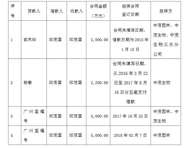 天广中茂大股东违规担保新进展,担保额从1亿升至近4亿图片