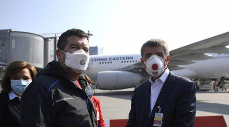 蓝冠:捷克再次收到中国紧急医疗蓝冠物资援助图片