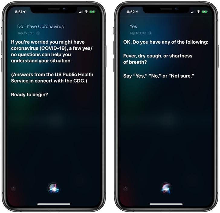 苹果Siri上线新冠肺炎相关功能 可帮用户呼叫911