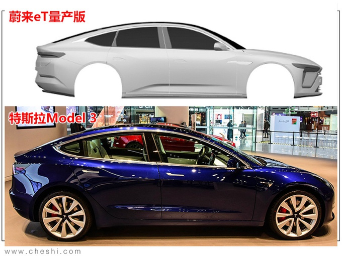 蔚来首款轿车实拍曝光 溜背式设计/竞争国产Model 3