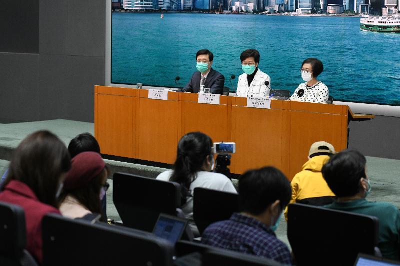 林郑月娥:香港未来数周确诊病例会继续上升,抗疫工作到了关键时刻图片