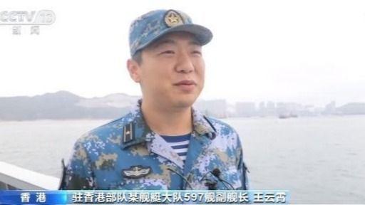 驻香港部队组织陆海空三军联合巡逻图片