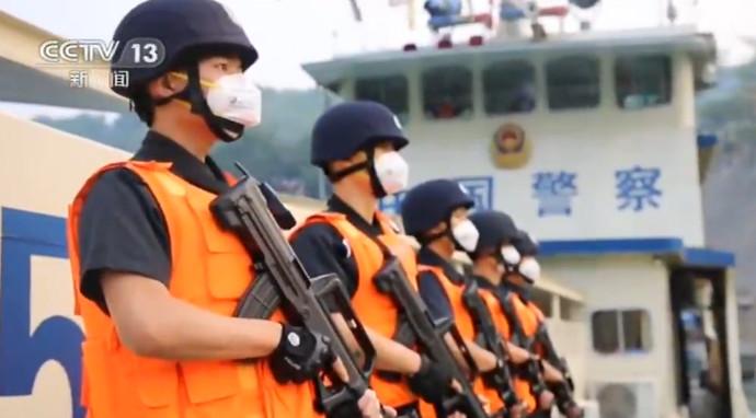 第91次中老缅泰湄公河联合巡逻执法结束图片
