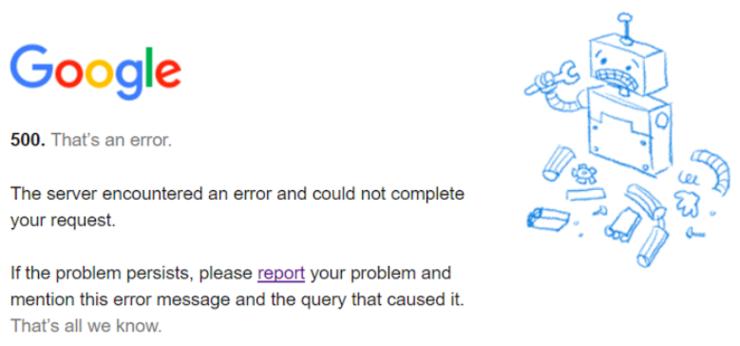 谷歌又崩了!连 Google Search 都不能用,官方道歉,网友:活久见