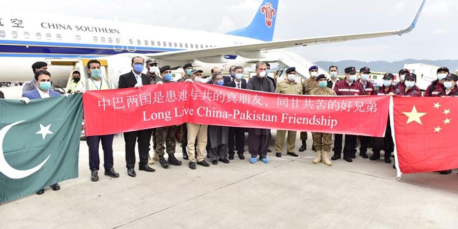 巴基斯坦迎接中国医疗专家组:患难与共真朋友、同甘共苦好兄弟图片