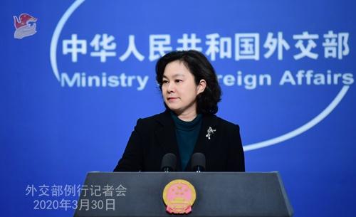 2020年3月30日外交部发言人华春莹主持例行记者会图片
