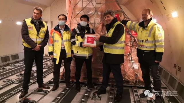 东航紧急运送防疫物资驰援法荷航和天合联盟管理公司