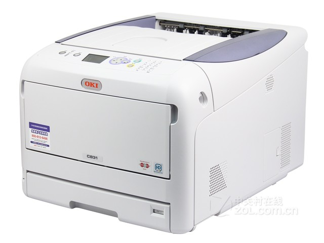 OKI激光打印效果 OKI C831dn仅39800元