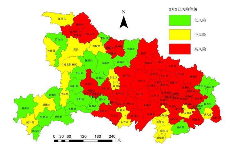 湖北最新疫情风险等级评估:高风险县(市、区)37个图片