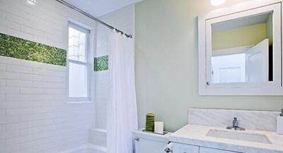 装修费用省钱绝招一:浴室镜柜合一