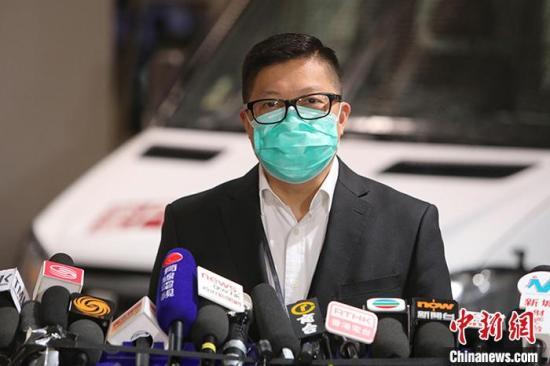 资料图:香港警务处处长邓炳强。中新社记者 谢磊 摄