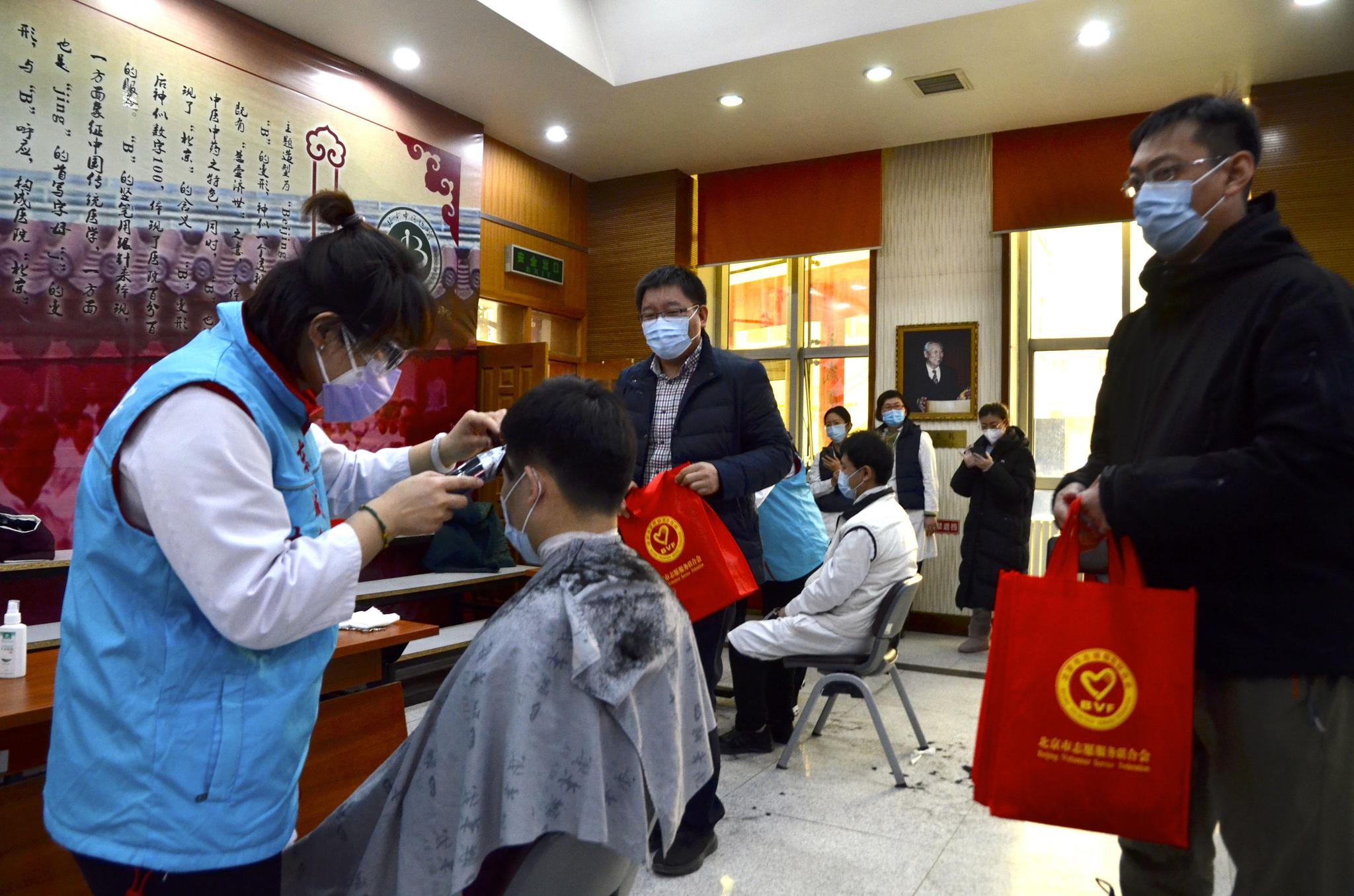 北京复工美发门店增至175家,为一线人员义剪超30场图片
