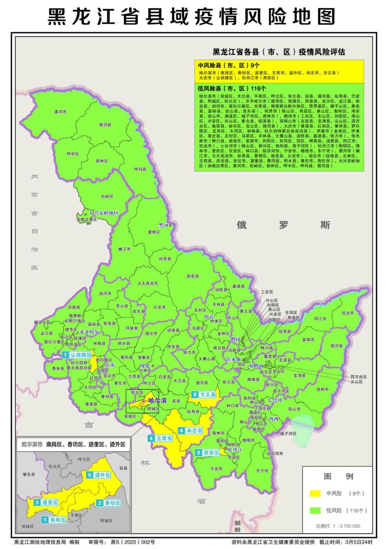 黑龙江省7个县(市、区)下调疫情风险等级图片