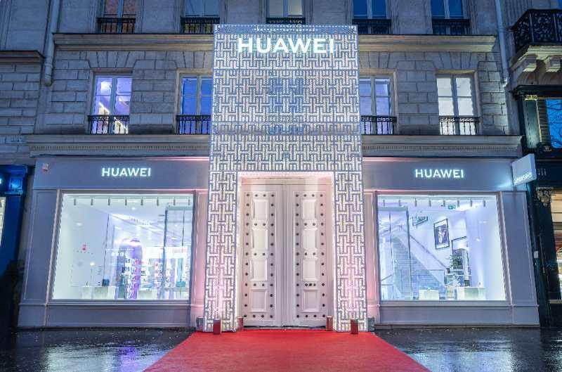 华为法国第一家旗舰店开业图片