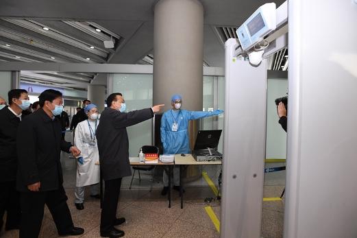 李克强考察首都国际机场:保证人员往来有序安全图片