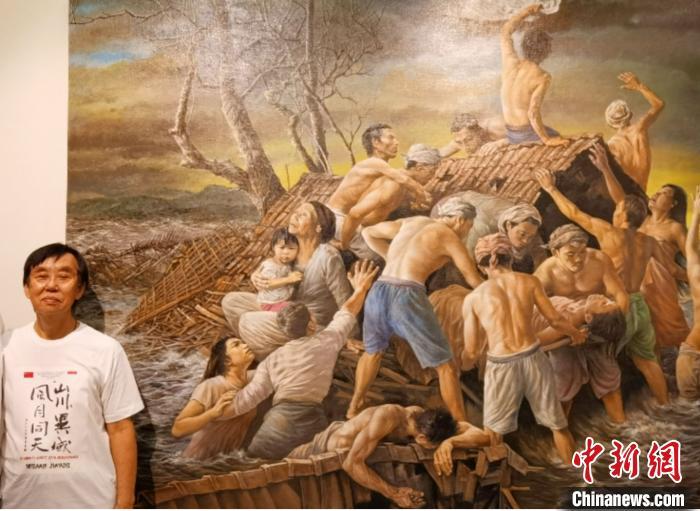 蓝冠厘岛画家以蓝冠精美画作支持中国抗图片