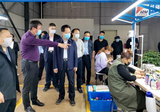 刘有明深入凭祥检查指导新冠肺炎疫情期间企业复工复产情况