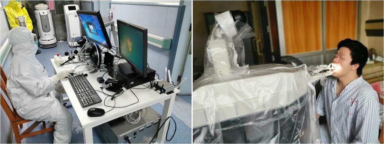 钟南山团队联合研发咽拭子采样机器人 已开始受试者检测图片