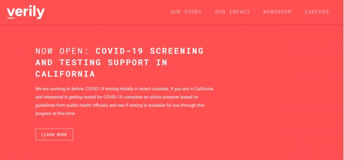美参议员就新冠病毒网站的数据隐私问题向Verily施压