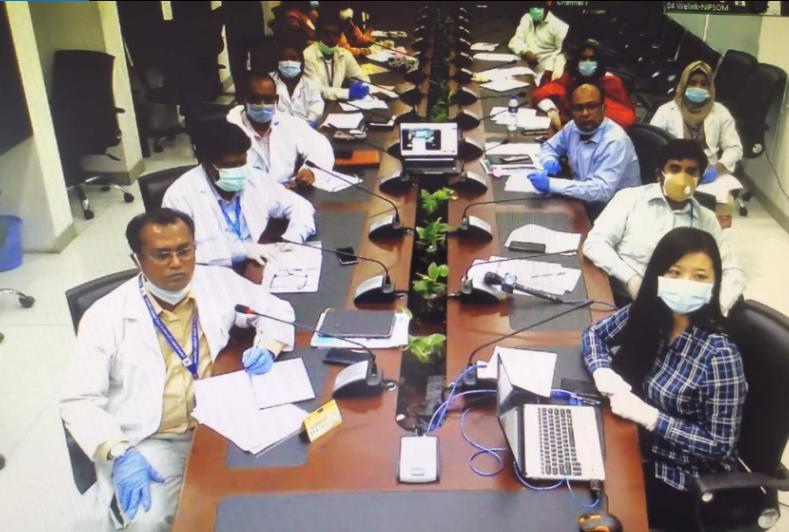 △孟加拉国防备与社会医学研究所连线现场