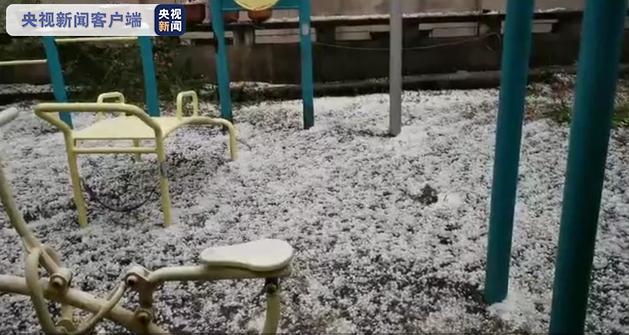 四川省攀枝花市突降冰雹、短时强降雨图片