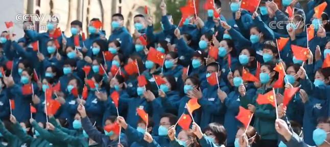 北京协和医院支援湖北医疗队撤离武汉图片