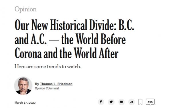 """疫情""""全球大流行"""" 世界悄然在改变图片"""