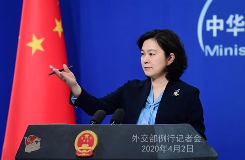 2020年4月2日外交部发言人华春莹主持例行记者会图片