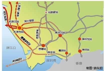 道交通重点项目天富深茂铁路将在深圳机场设站,天富图片