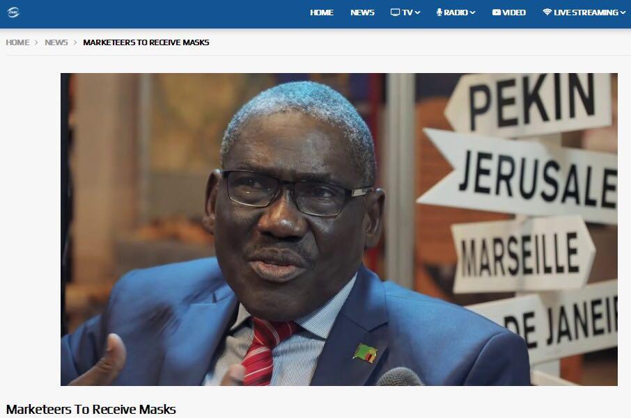 △赞比亚地方政府部长查尔斯·班达(Charles Banda)(图片来源:赞比亚国家电视台)