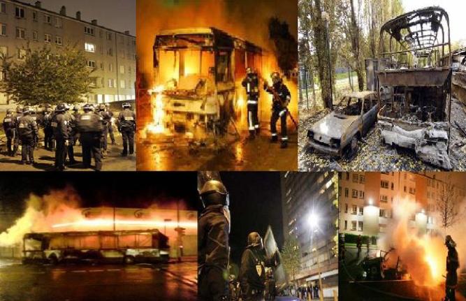 △2005年法国郊区骚乱 图片来源:法国媒体