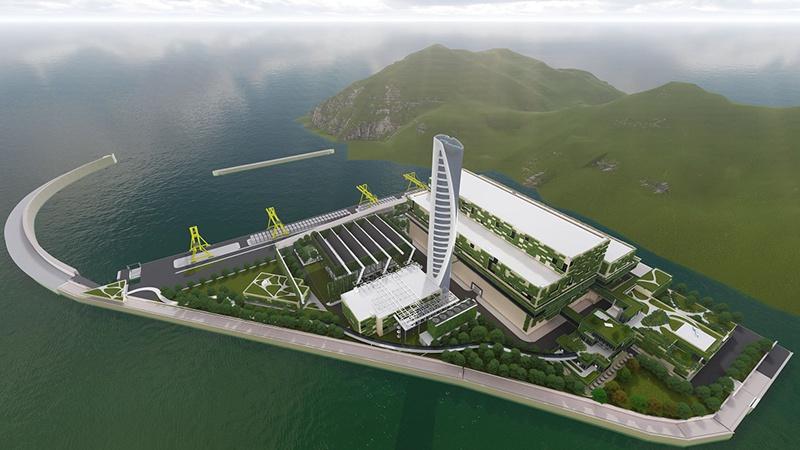 「摩天平台」接香港第一个综合垃圾处摩天平台理设施动图片